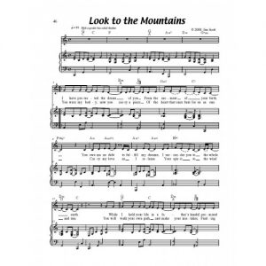 Look to the Mountains Solo Sheet
