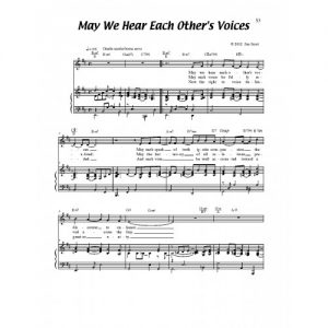 May We Hear Each Other's Voices Solo Sheet