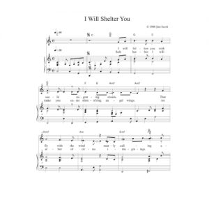 I Will Shelter You Solo Sheet